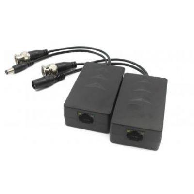 """PFM801 Комплект приёмник-передатчик в/сигнала HD-CVI по кабелю """"витая пара"""" со встроенным в передатчик пребразователем DC24-36В в DC12В для питания камеры до 300 м."""