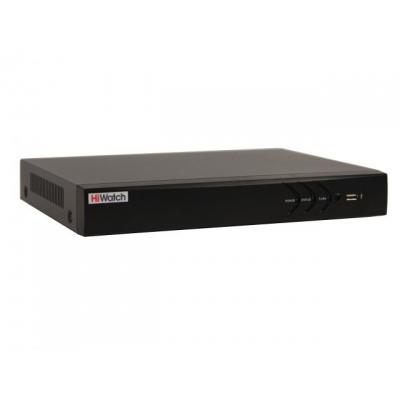 DS-H216QP 16-ти канальный мультиформатный HD-TVI  регистратор для аналоговых, HD-TVI, AHD  и CVI камер + 4 IP-канал (до 24 с  замещением аналоговых)