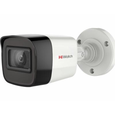 DS-T200A 2 Мп цилиндрическая HD-TVI видеокамера с EXIR-подсветкой до 30 м и микрофоном