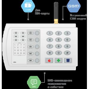Контакт GSM-9N Охранно-пожарная панель