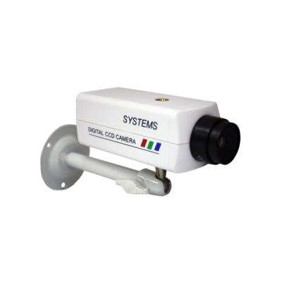 K-401MU Муляж корпусной офисной видеокамеры с кронштейном и объективом