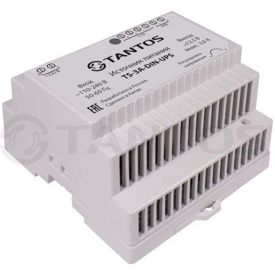 TS-5A-DIN-UPS Источник стабилизированного питания 12В/3А с креплением на DIN-рейку и возможностью подключения аккумулятора 12В / 4.5-12Ач